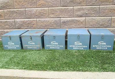 Vintage Sun Specification Tune Up Sheet Boxes Awesome Retro Filing Cabinets WOW!