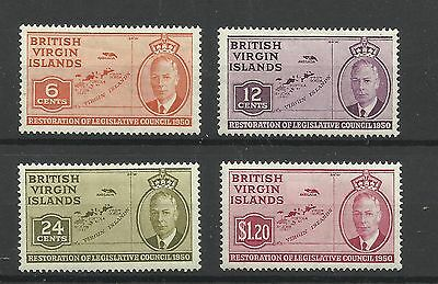 Virgin Islands 1951 Set of Council Issues, Sg 132-135, LM/M [896]