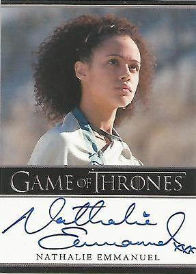 "Game of Thrones Season 5 - Nathalie Emmanuel ""Missandei"" Autograph Card"