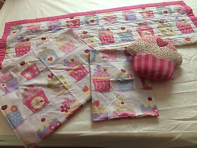 Next Girls Cupcake Range Single Bedding Set