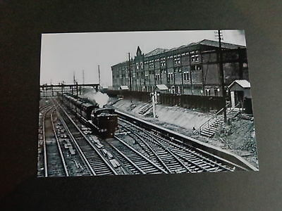 "MANCHESTER UNITED OLD TRAFFORD view from Railway end 1950s ?   6""x4"" Reprint"