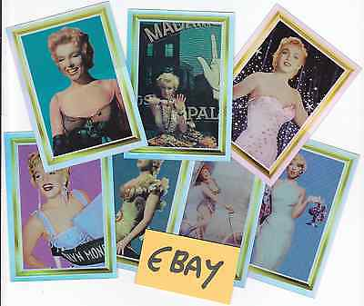 7 Marilyn Monroe 1995 Holochrome Chase Cards (Sports Time Inc USA) 1 2 3 4 5 6 8