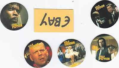 "5 Quentin Tarantino ""Pulp Fiction"" Pogs ! CLEARANCE Only £1.50 POSTFREE UK Only"