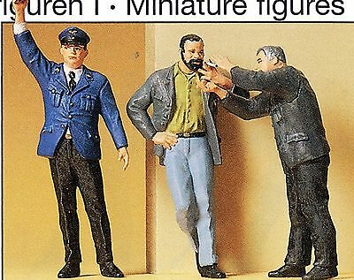 Schaffner Smoking RAILWAY WORKERS PREISER 63058 1 Gauge Scale 1:3 2