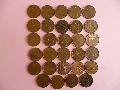 """""""29"""" NETHERLANDS 5 CENT COINS, all listed (I)"""