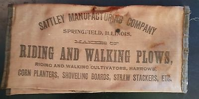 1880 Statley Farm Plow Springfield Illinois Advertising Cloth Pouch For Papers