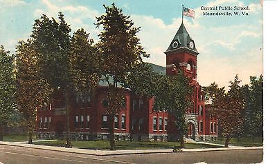 1917 The Central Public School in Moundsville, WV West Virginia PC