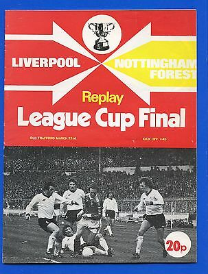 Liverpool FC Nottingham Forest Manchester United  Lg Cup Final Replay PROGRAMME
