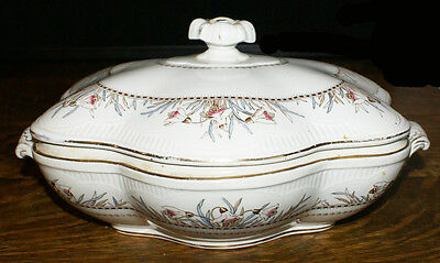 1889 Brownfield and Sons England Covered Serving Bowl in the Chester Pattern