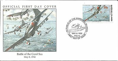 Arcade 99p Marshall Is 1992 Battle of the Coral Sea 1942 FDC