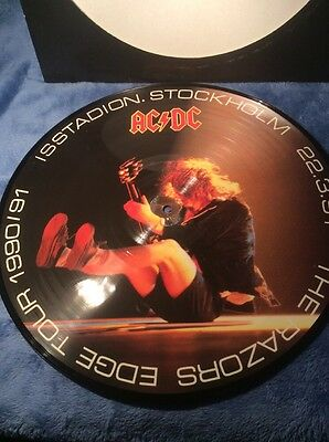 Ac Dc - Picture Lp - The Razors Edge Tour 1990/91 Stockholm