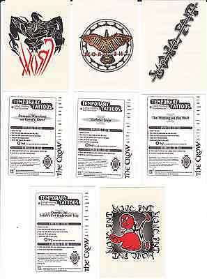THE CROW - CITY OF ANGELS 1996  (4 Temporary Tattoos)  Only £1 POSTFREE UK Only