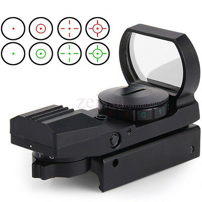 Red Green Sight Scope 4 Reticle Reflex Lens 20mm Dot Laser Air Rifle Gun Hunting