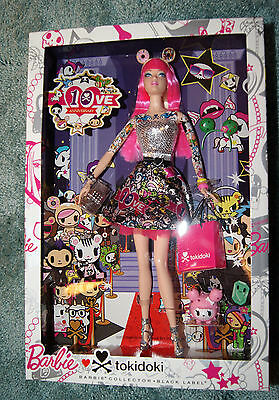 TOKIDOKI TATTOO Collector BARBIE DOLL PINK HAIR 10TH ANNIVERSARY NEW IN BOX