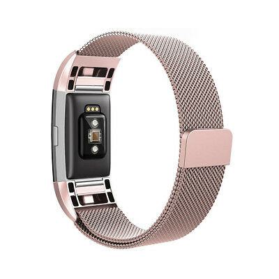 Milanese Loop Metal Magnetic Mesh Band Strap Bracelet for Fitbit Charge 2 TH644