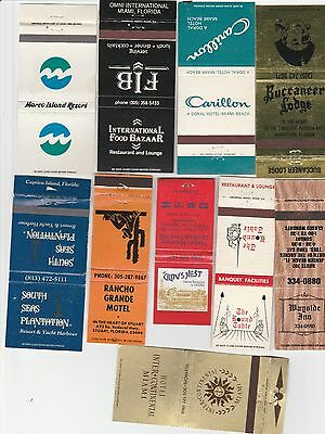 Lot Of 40 Different Florida Matchbook Covers.  #1