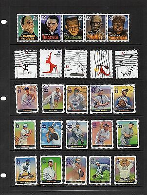USA - used Singles from  Sets - 48 stamps