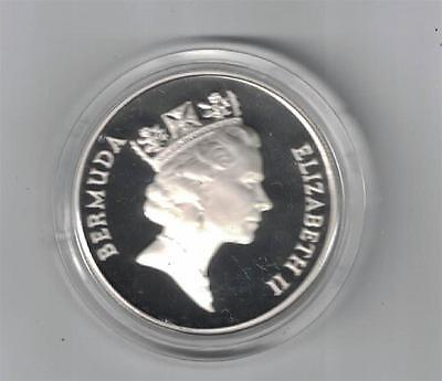 Bermuda  1 Dollar Silver Crown  1985  Proof