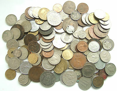 Wholesale Job Lot of British & Foreign Coins : Total Weight Over 900g +