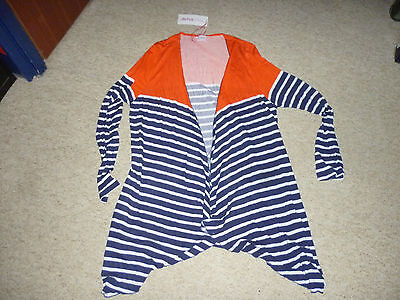 YourStyle Ladies Striped Waterfall Cardigan Size Adult 20 New With Tags
