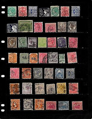 Australia: Nice 'states' Stamp Collection Displayed On 2 Sheets .see Scans
