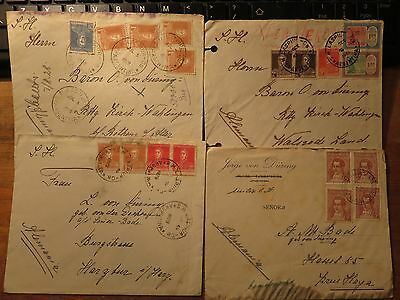 1920s-1930s  Four  Vintage Covers from Argentina to Germany