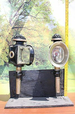 46-21 Genuine vintage carriage lamps candle style nice original condition