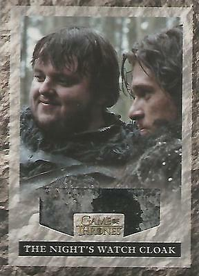 "Game of Thrones Season 2: RNW1 VARIANT ""Night's Watch Cloak"" Relic Card #038/625"