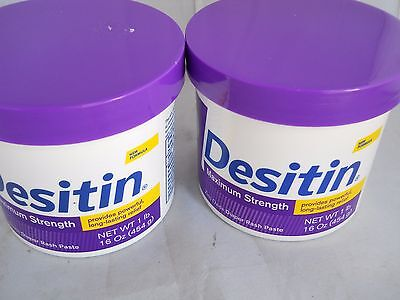Desitin Diaper Rash Cream Maximum Strength,Cream Ointment 16oz each (2pk bundle)