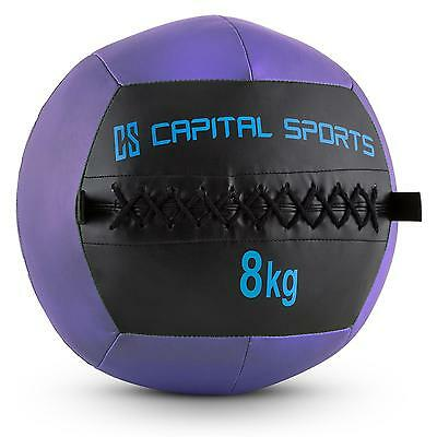 PROMO WALL BALL 8KG CUIR SYNTHETIQUE LILAS CORE TRAINING FITNESS Training MUSCLE