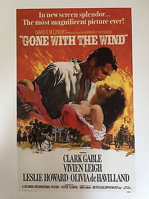 """GONE WITH THE WIND CLASSIC MOVIE POSTER PRINT READY TO FRAME 12""""x16"""" FREE P&P"""