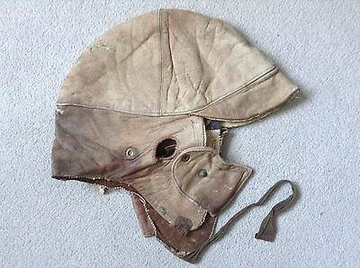 RARE - DUNHILLS WW1 Leather Flying Helmet Leather - Worn and damaged