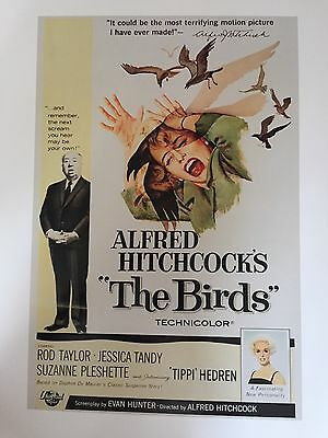 "HITCHCOCK THE BIRDS CLASSIC MOVIE POSTER PRINT READY TO FRAME 12""x16"" FREE P&P"
