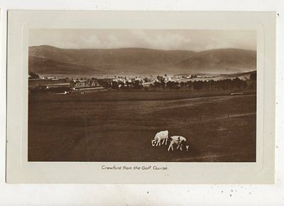 Crawford From The Golf Course Lanarkshire Scotland Vintage RP Postcard