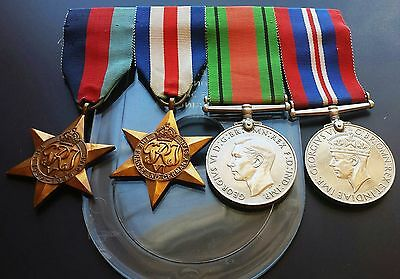 ORIGINAL 4 British Canada WW2 1939-1945 Star France Germany Medals **NUMBERED**