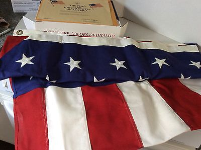 US Flag, 5' x 8' Cotton Construction Made n USA Flown over US Capitol 11-12-2007