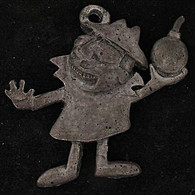 CHARM BORIS BADENOV THE ROCKY and BULLWINKLE SHOW Pewter BOMB RARE 5144