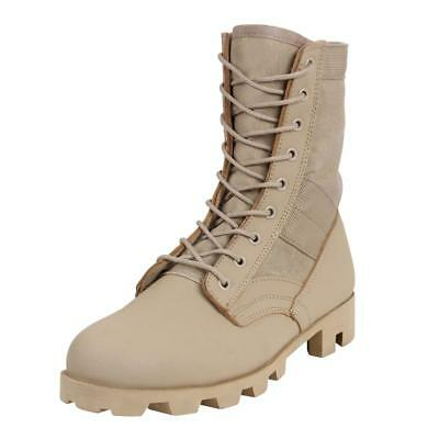 "Rothco 5909 8"" Classic Military G.I. Style Jungle, Combat Boots, Desert Tan"