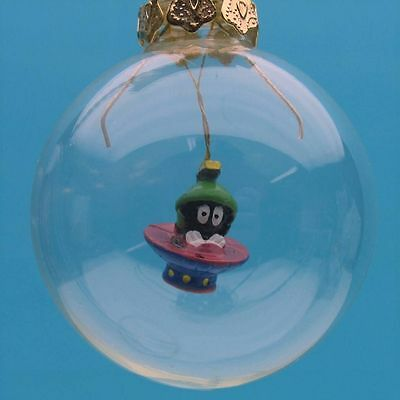 MARVIN The MARTIAN HAND BLOWN GLASS made Christmas GIFT ORNAMENT Looney Tunes WB