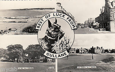 Postcard Gullane nr North Berwick East Lothian Scotland golf courses golfing RP