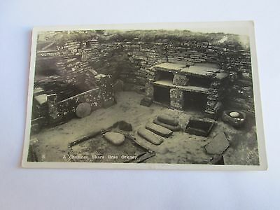 Postcard of A Chamber, Skara Brae, Orkney (posted 1947)
