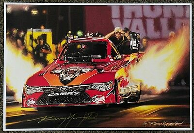 New Kenny Youngblood Signed Chad Head Thunder Valley Drag Strip Funny Car Print