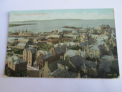 Postcard of Kirkwall from Cathedral Tower 10069JV posted 1910