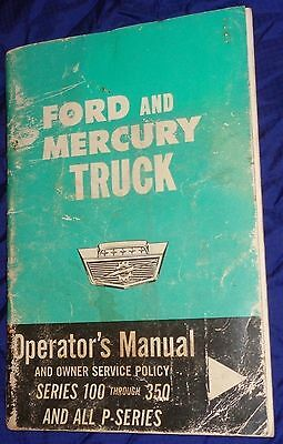 RP19981964 64 Ford & Mercury Truck Series 100 - 350 & All P Owners Manual