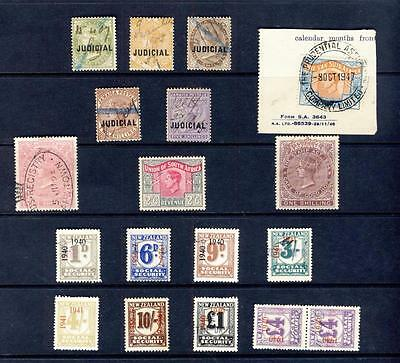 BR COMMONWEALTH-NICE LOT REVENUE STAMPS-QV TO 2sh&5sh-NZ TO £4x2 ETC -1