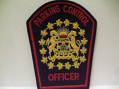 police patch  CITY OF CALGARY PARKING CONTROL OFFICER ALBERTA CANADA OLD STYLE