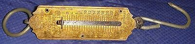 SE146 Vtg Pocket Balance Brass Fish Weigh Scale Made in Germany Max 25 Lbs