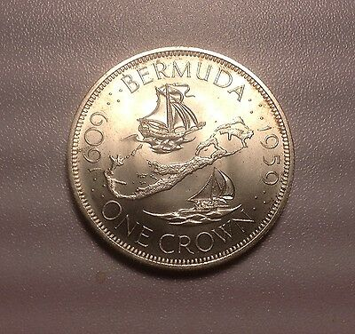 1959 Bermuda Silver Crown - Choice Bright Uncirculated - Free U S Shipping    18