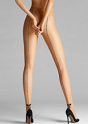 Wolford Tessy Tights in Gobi Black Size XL NEW
