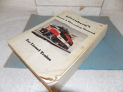 Lionel Repair and Operating Manual 1945-69 by Greenberg's